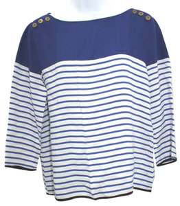 Zara Blue White Top