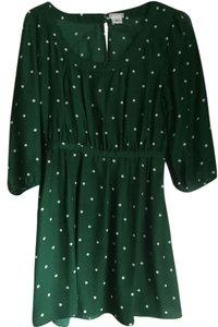 Cooperative short dress green Polka Dot Comfortable on Tradesy