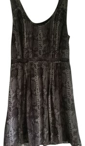 Broadway & Broome Chiffon Snakeskin Taupe Comfortable Dress