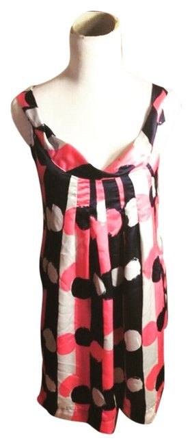 Item - Pink/Navy/White Retro Fit Night Out Dress Size 8 (M)