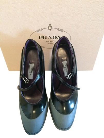 Prada Black and Grey Platforms