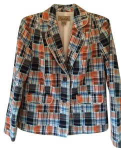 Peck & Peck -- Blue, White, Orange Blazer