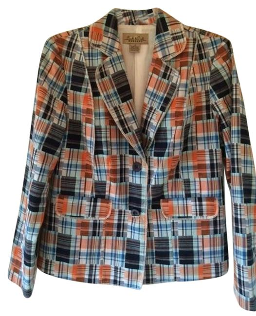 Preload https://item3.tradesy.com/images/peck-and-peck-blue-white-orange-blazer-size-8-m-3953152-0-0.jpg?width=400&height=650
