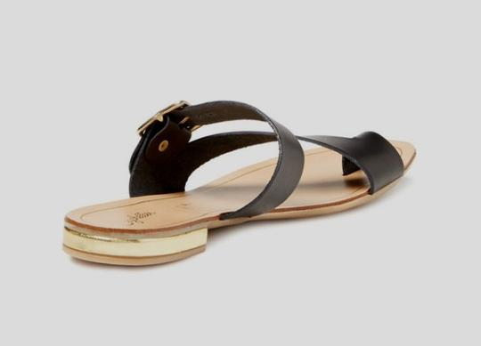 Seychelles Leather Summer Black Sandals Image 1