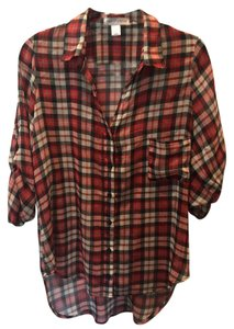 Band of Gypsies Top Red Plaid