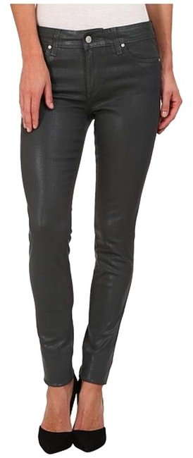 Item - Dark Grey Coated Skinny Jeans Size 27 (4, S)