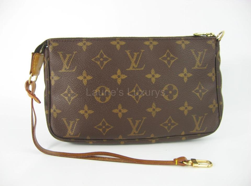 3b85863ab08e Louis Vuitton Model M51980 Monogram Lv Lv Purse Baguette Small Vintage  Luxury Designer Brown Clutch Image ...