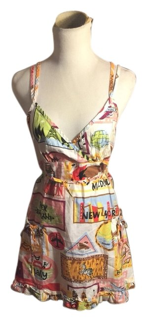 Vintage Nick & Nora short dress Pink/Green/Yellow/Blue/Red on Tradesy