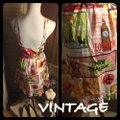 Vintage Nick & Nora short dress Pink/Green/Yellow/Blue/Red on Tradesy Image 4