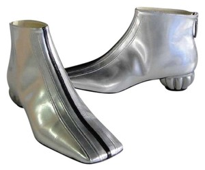 Chanel G28386 Runway Collection SILVER Boots