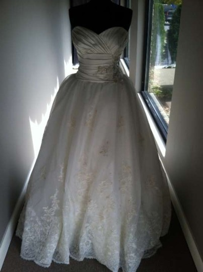 Mori Lee Ivory 1657 Vintage Wedding Dress Size 14 (L)