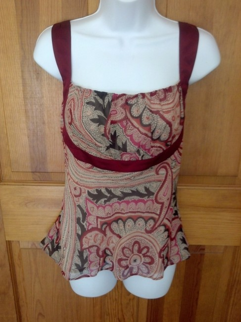 Kenneth Cole Paisley Top Multi Image 3