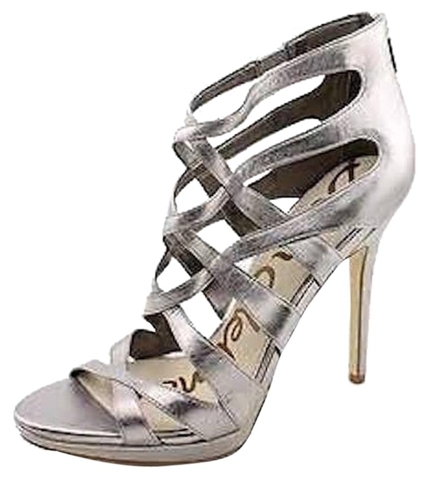 buying now autumn shoes sneakers for cheap Sam Edelman Silver Erin Strappy Stilettos Sandals Size US 8.5 Regular (M,  B) 61% off retail