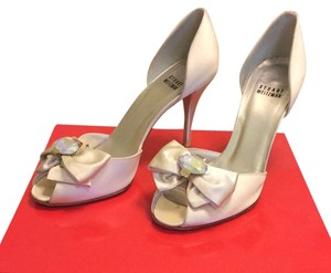 Stuart Weitzman Ivory Satin Formal