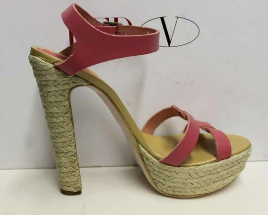RED Valentino PINK LEATHER Platforms