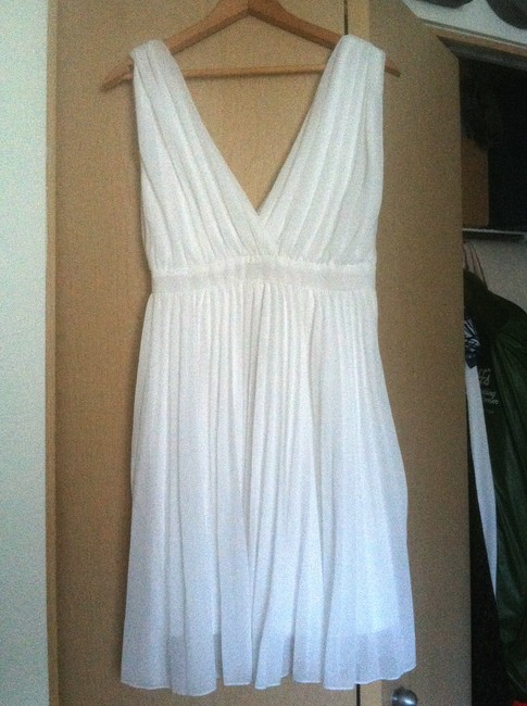 Moon Collection Pleated V-neck Dress