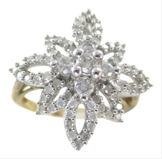 Preload https://item5.tradesy.com/images/other-10k-solid-yellow-gold-ring-cluster-flower-star-70-genuine-diamonds-10-carat-3955369-0-0.jpg?width=440&height=440