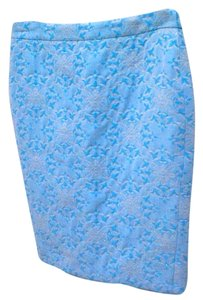 Moda International Skirt blue, silver, white