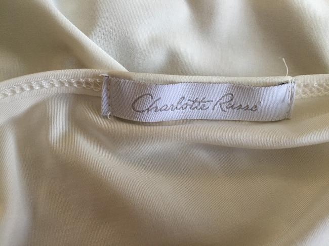 Charlotte Russe T Shirt Ivory Brown Blue Image 1