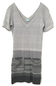 Goddis short dress grey Knit Striped on Tradesy