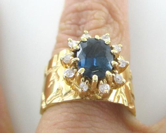 Other 14K SOLID YELLOW GOLD RING 10 DIAMONDS .25 CARAT FINE JEWELRY WEDDING BAND SZ7