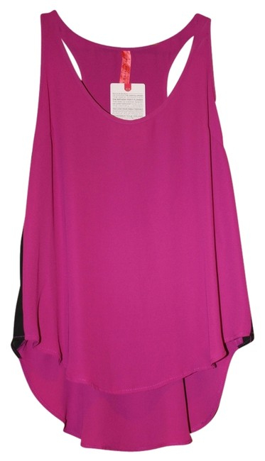 Eight Sixty New Hot Mama Pink Tank Black Top Orchid