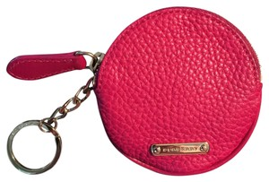 Burberry Burberry Grainy Leather Coins Bag Hot Pink