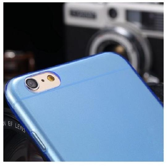 "Other Blue - IPhone 6 4.7"" TPU Rubber Gel Ultra Thin Case Cover Transparent Glossy 10 Colors Available"