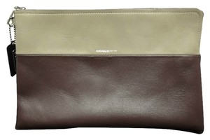 Coach Brough Large Wristlet in plum - gray