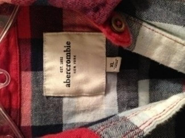 Abercrombie & Fitch Button Down Shirt Red white blue