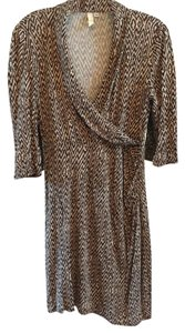B*Envied Wrap Knit Comfortable Neutral Dress