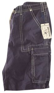 True Religion Big T Cargo Cargo Not Skinny Shorts Blue
