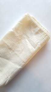 One Ivory Crinkle Taffeta Table Runner