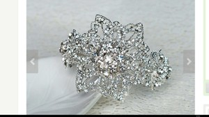 Beautiful Bridal Crystal Cuff Bracelet