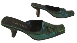 Prada Shades of green Mules