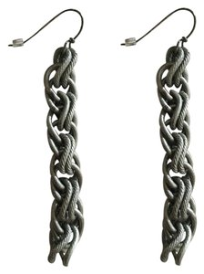 Sarah Cavender Metalworks Handmade Sarah Cavender chain earrings in gunmetal