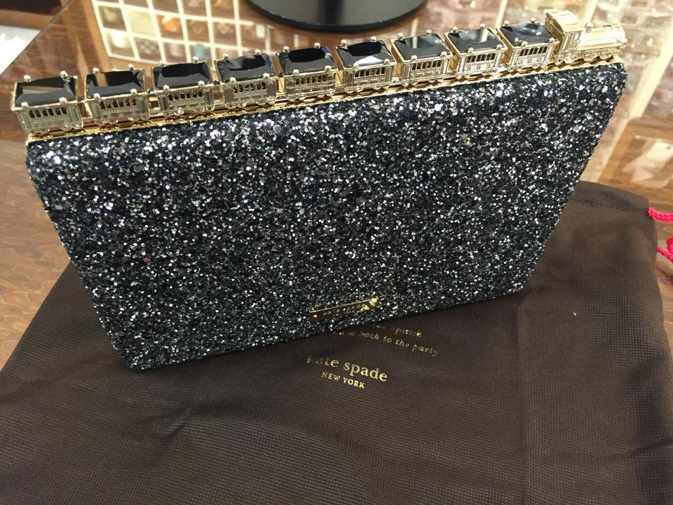 c23c44ea2d1 Kate Spade New York All Aboard Emanuelle Glitter Acciaio Sparkly Clutch -  Tradesy