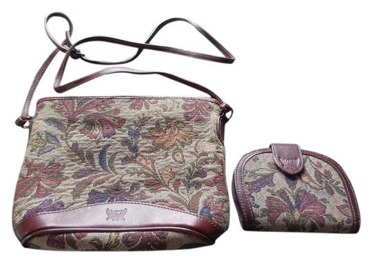 Preload https://item3.tradesy.com/images/liz-claiborne-tapestry-wallet-and-cloth-leather-cross-body-bag-3960427-0-0.jpg?width=440&height=440
