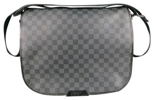 Louis Vuitton Damier Canvas Checkered Black Messenger Bag