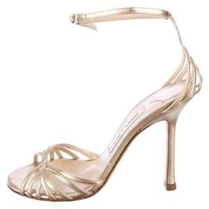 Jimmy Choo Metallic Sale Gold Pumps