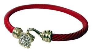 Colette COL-GOLD TONE RED BRACELET AND GOLD SQUARE Closure