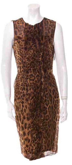 Preload https://item5.tradesy.com/images/dolce-and-gabbana-brown-and-black-dolce-and-gabbana-sleeveless-above-knee-formal-dress-size-8-m-3961264-0-0.jpg?width=400&height=650