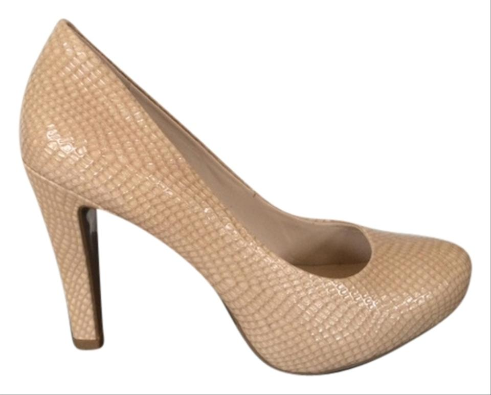Franco Sarto Taupe Patent Leather Pumps Pumps Leather 37159f