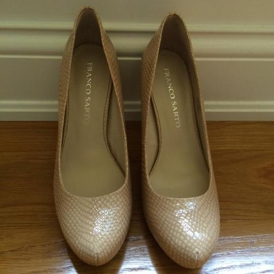 Franco Sarto Patent Leather Taupe Pumps
