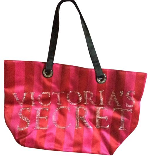 Victoria's Secret Tote in Pink red and black
