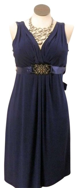 Item - Navy Blue Night Out Party Above Knee Cocktail Dress Size 16 (XL, Plus 0x)