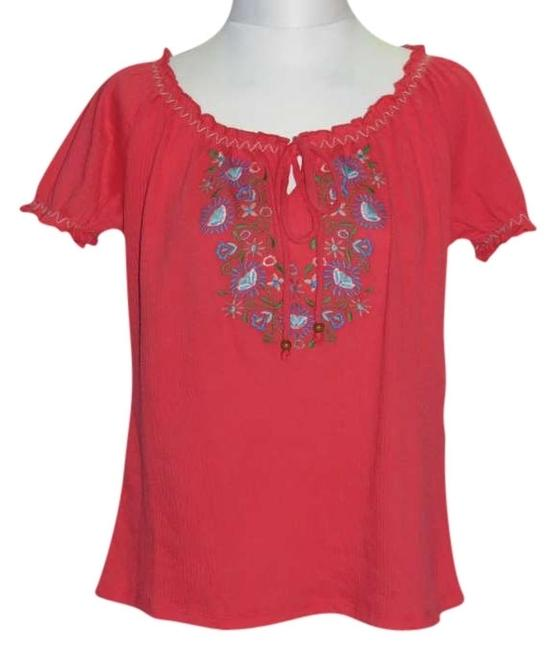 Preload https://img-static.tradesy.com/item/396196/french-laundry-coral-new-medium-blouse-size-petite-8-m-0-0-650-650.jpg