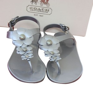 Coach Gunmetal Sandals