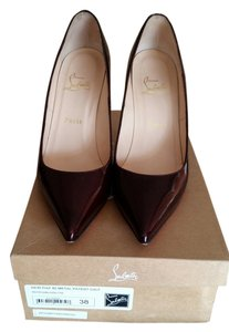 Christian Louboutin oxlood, dark red, purple red Pumps