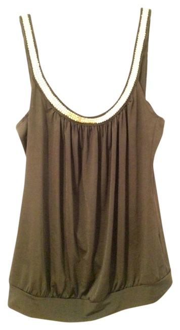 Charlotte Russe Gold Hardware Backless Dressy Gold Accents Scoop Scoop Less Comfortable Stylish Chic Top Black